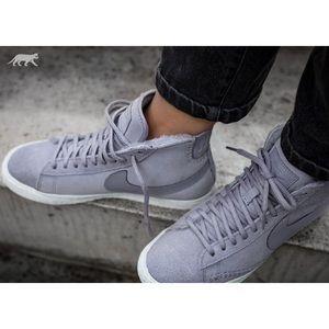 Nike Lavender Suede + Shearling Blazer Sneakers